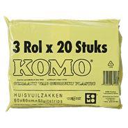 Komo Huisvuilzakken 60 liter 10 x 20 stuks