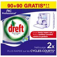 Dreft Professional Platinum Vaatwastabletten 2x90 Tabletten