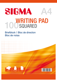 Sigma Schrijfblok geruit A4 5 x 100 vel
