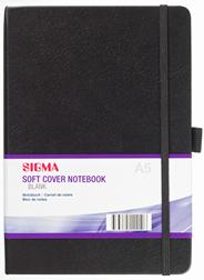 Sigma Zwart notitieboek softcover blanco A5-papier