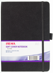 Sigma Notitieboek Soft Blanco A6 zwart