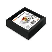 Eureka Caterware Milan Plastic borden large zwart 12 stuks