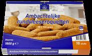 Horeca Select Ambachtelijke rundvleescroquetten 18 x 100 gram