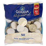 Gouda Professional Maxi waxinelichten 10 uur 50 stuks