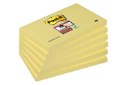 Post-it Super sticky notes 76 x 127 mm geel