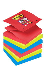 Post-it Super sticky Z-notes kleurenset Bora Bora 76 x 76 mm