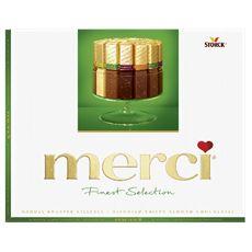 Merci Finest Selection 4 Verschillende Chocoladespecialiteiten met Amandel 250 g