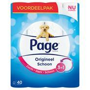 Page Toiletpapier Origineel Schoon Voordeelpak 40 Rollen