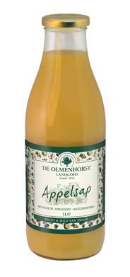 De Olmenhorst Biologische appelsap fles 6 x 1 liter