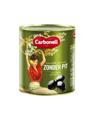 Carbonell Zwarte olijven zonder pit 3100 ml