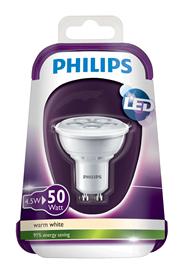Philips LED spot 4,5W (50W) GU10