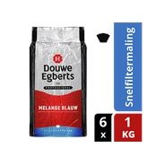 Douwe Egberts Melange blauw snelfiltermaling 6 x 1 kg