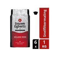 Douwe Egberts Melange rood snelfiltermaling 6 x 1 kg
