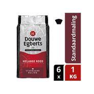 Douwe Egberts Melange rood standaardmaling 6 x 1 kg