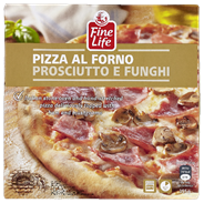 Fine Life Pizza al forno prosciutto e funghi 355 gram