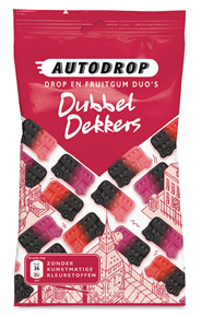 Autodrop Dubbel dekkers 16 x 85 gram