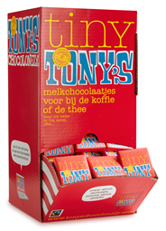 Tony's Chocolonely Chocolade Tiny's Melk 700 GRM doos