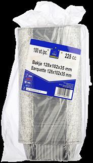 Horeca Select Aluminium bak rechthoekig 225 ml 100 stuks
