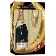 Henkell Trocken dry-sec 750 ml + glas