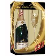 Henkell Trocken dry-sec 6 x 750 ml + glas