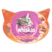 Whiskas Temptations met rundvlees 60 gram