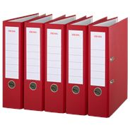 Sigma Ordner A4 PP 8 cm rood 5 stuks