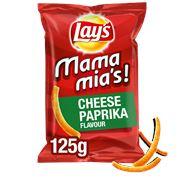 Lay's Mamma Mia's Paprika Kaas Chips 9 x 125 gr