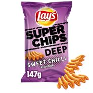 Lay's Superchips Deep Red Sweet Chilli 9 x 147 gr