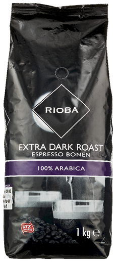 Rioba Extra dark roast bonen 8 x 1 kg