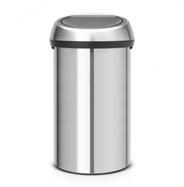 Brabantia Touch Bin 60L Round Stainless steel Stainless steel waste basket