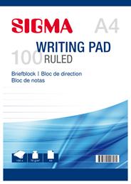 Sigma Schrijfblok gelinieerd A4 5 x 100 vel