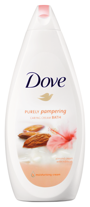 Dove Purely pampering Amandel & hibiscus bad 750 ml