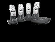 Gigaset A415A Dect-telefoon met 3 extra handsets en antwoordapparaat