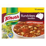 Knorr Rundvleesbouillon grootverpakking 15 x 10 gram