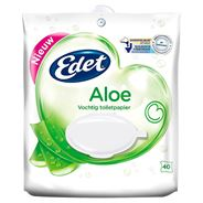 Edet Aloe Vochtig Toiletpapier 40 Stuks