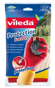 Vileda Protection Fuertes Household gloves Latex Rood, Geel 1stuk(s)