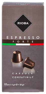 Rioba Capsules Espresso forte 10 x 5 gram