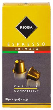 Rioba Capsules Espresso cremoso 10 x 5 gram