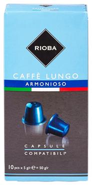 Rioba Capsules Lungo armonioso 10 x 5 gram