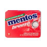 Mentos Gum breeze strawberry 12 pakjes
