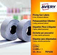 Avery Labels voor prijstang 2-lijnen wit 12.000 stuks