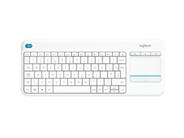 Logitech K400 plus RF Draadloos toetsenbord wit