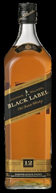 Johnnie Walker Black label 6 x 1 liter