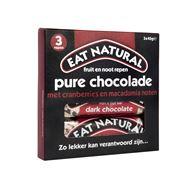 Eat Natural fruit & nut bar pure chocolade met cranberries en macadamia noten