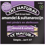 Eat Natural fruit & nut bars amandel & sultanarozijn met pinda's en abrikozen