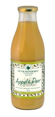 De Olmenhorst Biologische appel- en perensap fles 6 x 1 liter