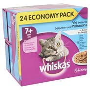 Whiskas Vis selectie in gelei 7+ jaar 24 x 100 gram