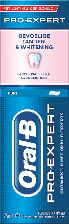 Oral-B Pro-Expert Gevoelige Tanden + Whitening Tandpasta 75 ml
