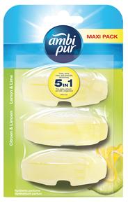 Ambi Pur Toiletblok Lemon & Lime Navulling 3x55 ml
