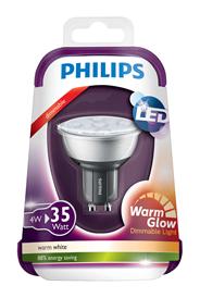 Philips LED spot dimbaar 4W (35W) GU10